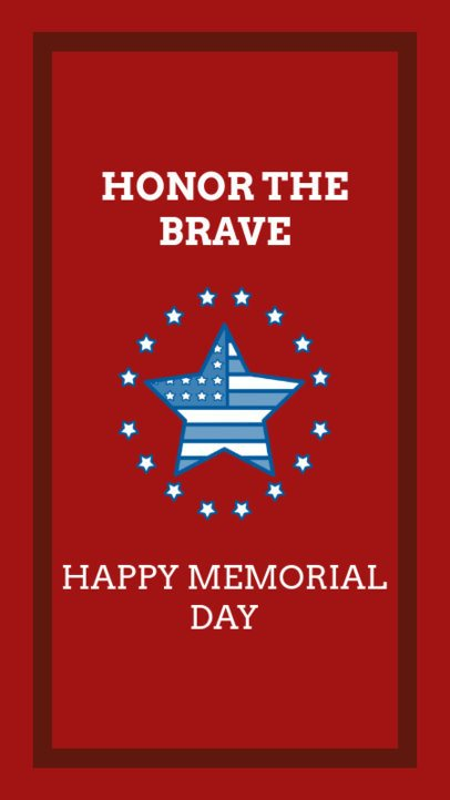 Instagram Story Maker for Memorial Day with an American Star Graphic 2787b