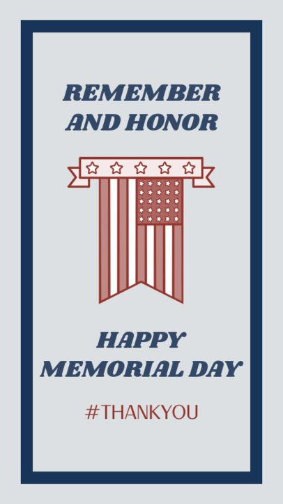 Instagram Story Generator for a Happy Memorial Day Celebration 2787d