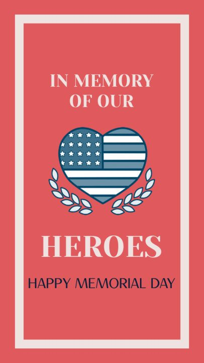 Instagram Story Maker for a Happy Memorial Day 2787f