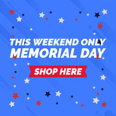 Banner Template for a Special Offer Announcement on Memorial Day 2488d
