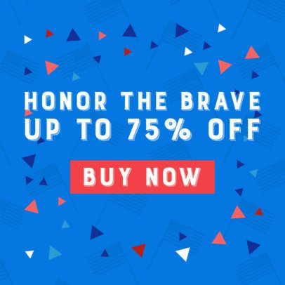 Banner Generator for a Memorial Day Special Discount Announcement 2488g