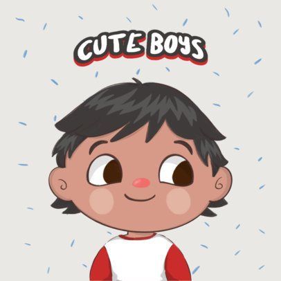 Logo Creator with a Cute Face Avatar 3210g