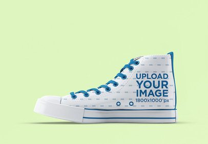 Mockup Featuring a Sublimated High Top Sneaker Against a Plain Background 3268-el1