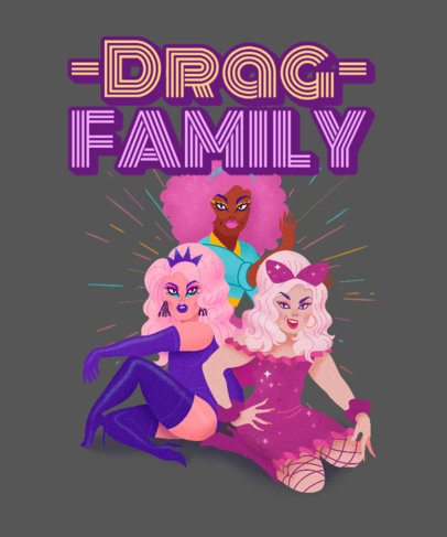 T-Shirt Design Generator with Three Drag Queens 2482f