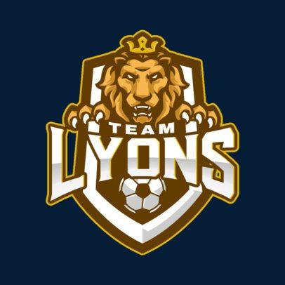 Sports Logo Maker Featuring Soccer Ball Graphics 1298-el1