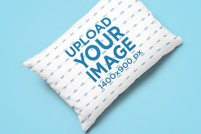 Sublimated Pillow Mockup on a Customizable Surface 25528