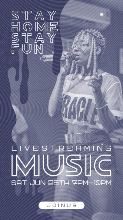 Instagram Story Template for a Virtual Concert Livestream 1236-el1