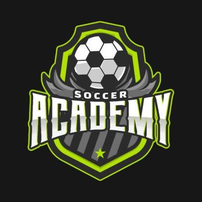 Sports Logo Creator Featuring a Soccer Ball Illustration 1298c-el1
