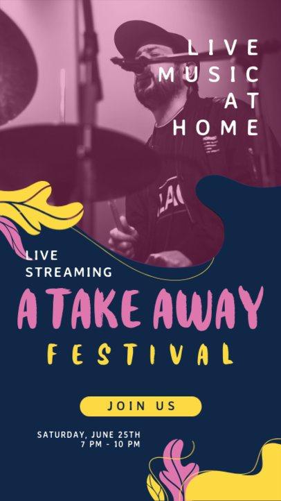 Instagram Story Maker for Musicians' Live Concert Announcements 1238-el1