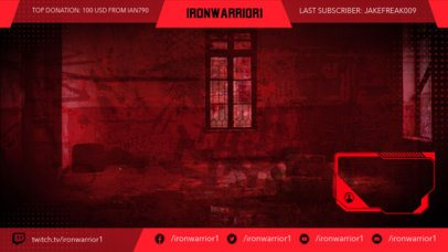 Twitch Overlay Design Template for Gamers Featuring a Webcam Frame 2511u
