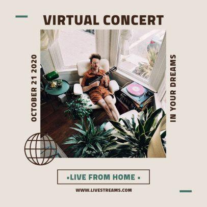 Instagram Post Template for Online Concerts 1244-el1
