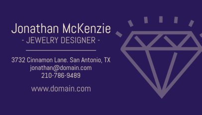 Jewelry Designer Business Card Template 563b2