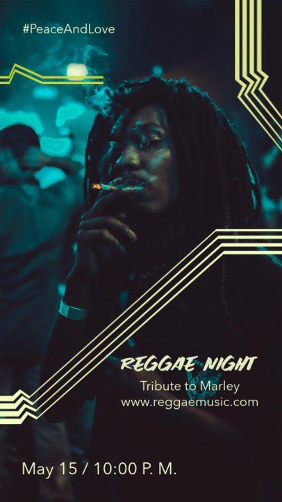 Instagram Story Creator for a Reggae Music Night 1228b-el1