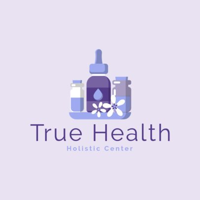 Holistic Center Logo Maker Featuring Dropper Graphics 1304d-el1