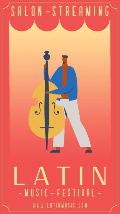 Illustrated Instagram Story Design Maker for Virtual Concerts 1360-el1
