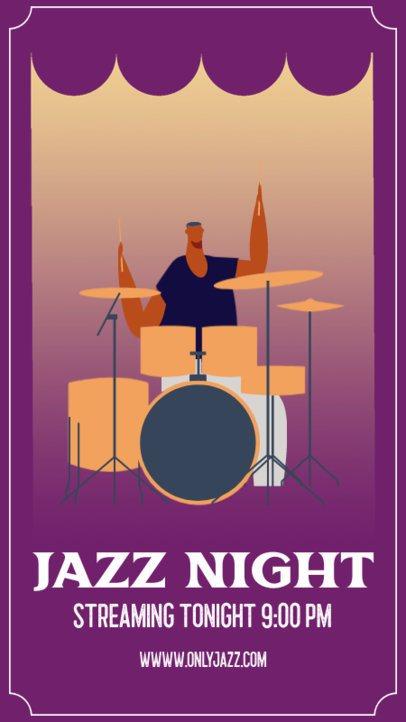 Instagram Story Generator for a Virtual Jazz Concert 1360c-el1