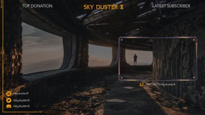 Twitch Overlay Template for Gaming Streamers Featuring a Post-Apocalyptic Background 2512f