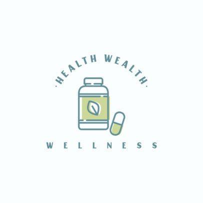 Wellness Logo Template Featuring a Pill Bottle Graphic 1310c-el1