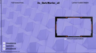 Stream Overlay Generator for Gamers Featuring a Geometric Abstract Background 2512b