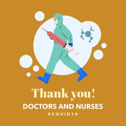 Instagram Post Design Maker to Appreciate Medical Workers 2503b