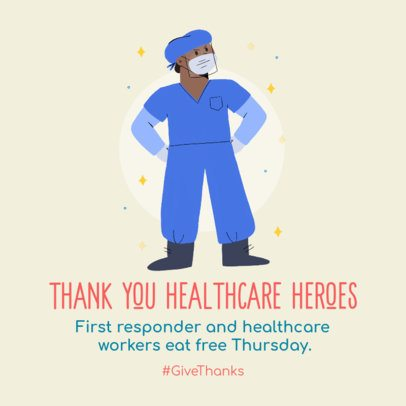Instagram Post Template to Praise Healthcare Workers 2303a