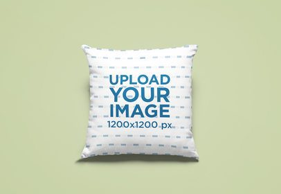 Mockup of a Sublimated Pillow Placed on a Customizable Setting 25740