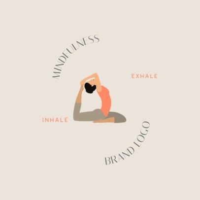 Wellness Studio Logo Maker Featuring a Woman in a Yoga Pose 1302d-el1