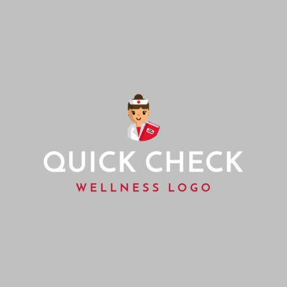 Wellness Logo Maker with the Graphic of a Kind Nurse 1303e-el1