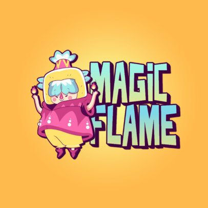 Magical-Looking Logo Maker with a Cartoon Character 3236c