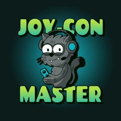 Logo Maker Featuring a Gamer Cat Cartoon 3236e