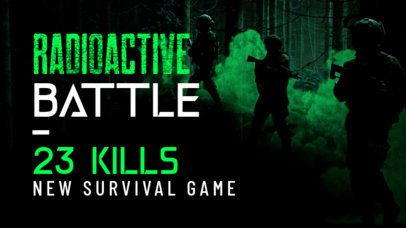 YouTube Thumbnail Template For a Survival Game Review 2508a