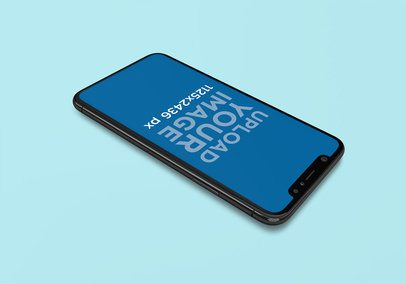 Mockup of an iPhone 11 Pro on a Plain Color Surface 2004-el1