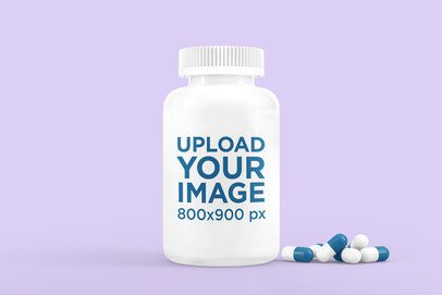 Mockup of a Plastic Pill Bottle Featuring Some Pills 4046-el1
