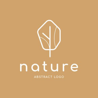 Abstract Logo Maker with Minimalist Nature Icons 1393-el1