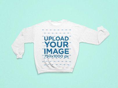Mockup of a Heathered Sweatshirt with Folded Sleeves 25314