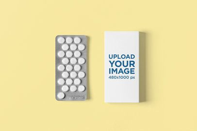 Mockup of a Pills Box Placed in a Minimalist Setting 4060-el1