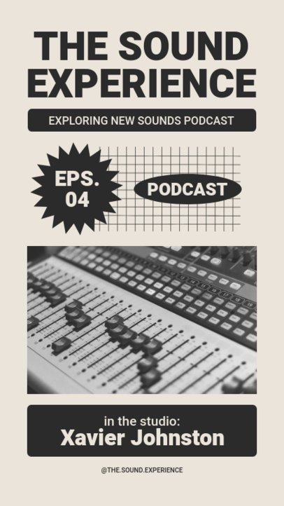 Retro Instagram Story Template for a Podcast Maker 1364a-el1