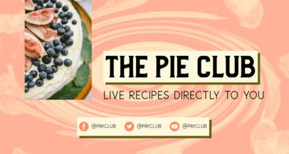 Twitch Banner Creator for a Cooking Channel 2523h