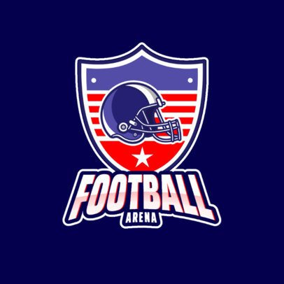 American Football Team Logo Maker Featuring a Helmet Graphic 1340f-el1