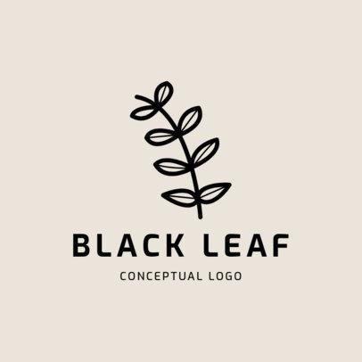 Logo Template Featuring a Minimalist Plant Icon 1393d-el1