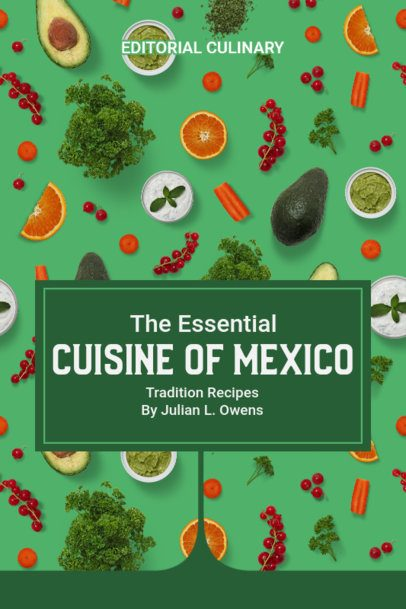 Mexican Cuisine E-book Cover Design Maker 1413a-el1
