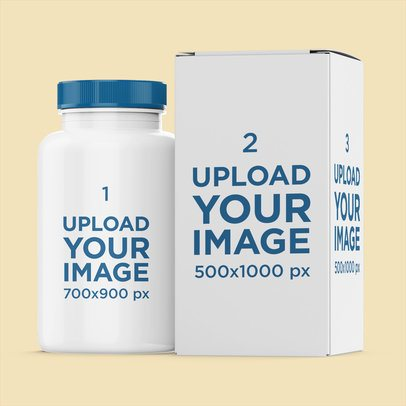Pills Bottle Mockup Featuring Its Box 4065-el1