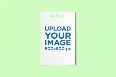 Mockup of a Gift Card Featuring a Customizable Background 4073-el1