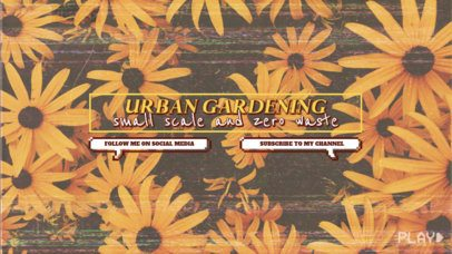 YouTube Banner Creator For Urban Gardening Tips 2519c