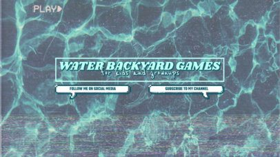 YouTube Banner Template with a Pool Water Texture 2519b