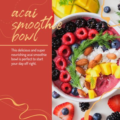 Foodie Instagram Post Design Maker with a Delicious Bowl Photo 2526g