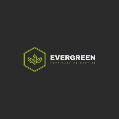 Logo Template for a Company Featuring a Graphic of Leaves 1395b-el1