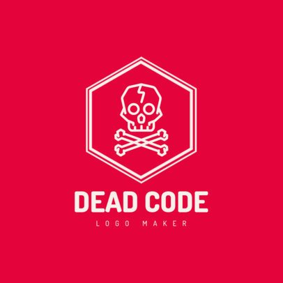 Logo Maker for Developers with a Skull Graphic 1395e-el1