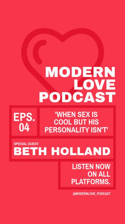 Flyer Template for a Modern Love Podcast 1407c-el1