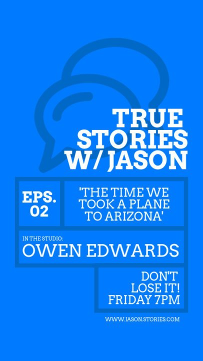 Online Flyer Creator for a True Stories Podcast 1407a-el1